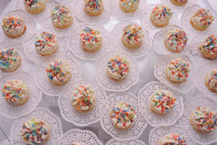 Small creamy cakes Royalty Free Stock Photos