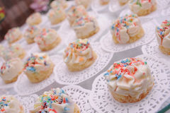 Small Creamy Cookies Stock Photo