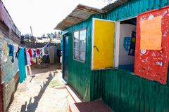 Small Creche Daycare Preschool in suburban Soweto neighborhood royalty free stock photos