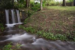 A small creek in the middle of the country side in Colombia royalty free stock photos