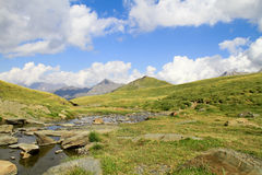 Small creek in pyrenees mountains Royalty Free Stock Photo