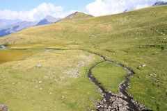 Small creek in pyrenees mountains Royalty Free Stock Image