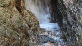 Small Creek Waterfall Amid Rocks Colfax California stock video footage