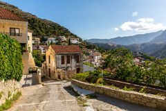 Small cretan village in Crete  island, Greece Royalty Free Stock Photos