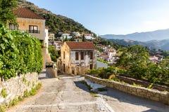 Small cretan village in Crete  island, Greece. Stock Photography