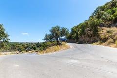 Small cretan village in Crete  island, Greece Royalty Free Stock Images