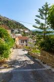 Small cretan village in Crete  island, Greece. Royalty Free Stock Photo