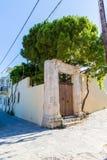 Small cretan village in Crete  island, Greece. Stock Photo