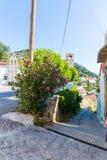 Small cretan village in Crete  island, Greece. Royalty Free Stock Photos