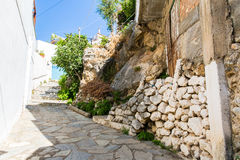 Small cretan village in Crete  island, Greece. Stock Images