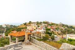 Small cretan village Kavros in Crete  island, Greece. Royalty Free Stock Photos