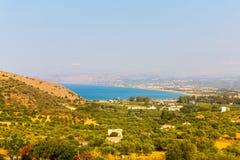 Small cretan village Kavros in Crete  island, Greece Stock Photo