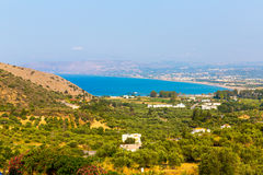 Small cretan village Kavros in Crete  island, Greece. Stock Image