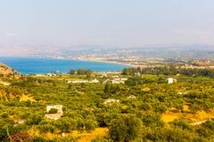 Small cretan village Kavros in Crete  island, Greece. Travel Background Royalty Free Stock Image