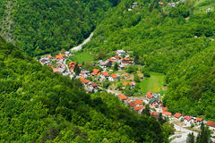 Small Croatian village. Royalty Free Stock Image