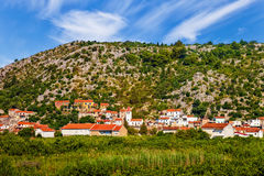 Small Croatian village Royalty Free Stock Photos
