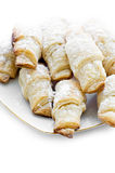 Small croissants with sugar powder Royalty Free Stock Photo
