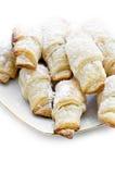 Small croissants with sugar powder Royalty Free Stock Photo