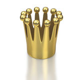 Small crown on white background from below Royalty Free Stock Photos