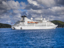Small cruise ship Stock Images