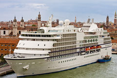 Small Cruise Ship in Venice Royalty Free Stock Photography