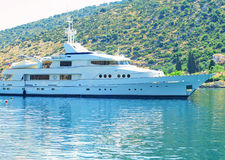 small cruise yacht in Kefalonia Royalty Free Stock Photography