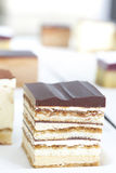 Small cube cake collection Royalty Free Stock Image