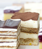 Small cube cake collection Stock Photography