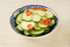 Small cucumber cold and dressed with sauce Stock Photography