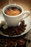 Small cup of black coffee Stock Image