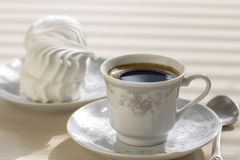 A small cup of black coffee. Stock Photography