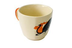 Small cup of chicken pattern Royalty Free Stock Images