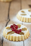 Small cupcake with grapes Royalty Free Stock Photo
