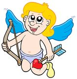 Small cupid with bow Royalty Free Stock Images