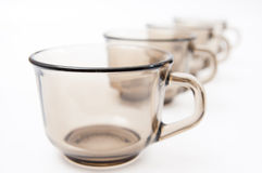 Small cups row Stock Photo