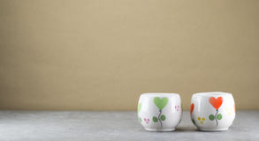Small cups. Royalty Free Stock Images