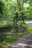 Small curved canal Royalty Free Stock Images