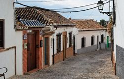 Small Curved Street In Granada, Spain Stock Image