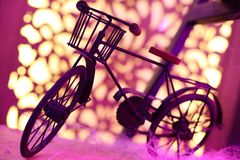 Small and cute artistic vintage bicycle royalty free stock image