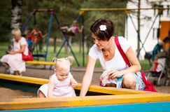 Small cute baby and nice mom Royalty Free Stock Photo