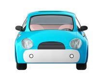 Small cute blue car front Stock Images