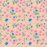 Small cute flower seamless pattern royalty free illustration