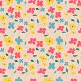 Small cute flower seamless pattern vector illustration