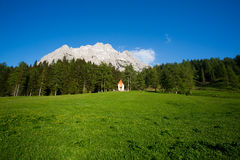 Small cute little church in the Dolomites Royalty Free Stock Images