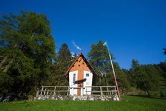 Small cute little church in the Dolomites Stock Image