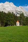 Small cute little church in the Dolomites Stock Photos