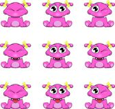 Small, cute monsters Royalty Free Stock Image