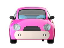 Small cute pink car front Royalty Free Stock Images