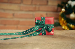 Small cute present box for Christmas Stock Photography