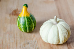Small cute pumpkins Stock Photo